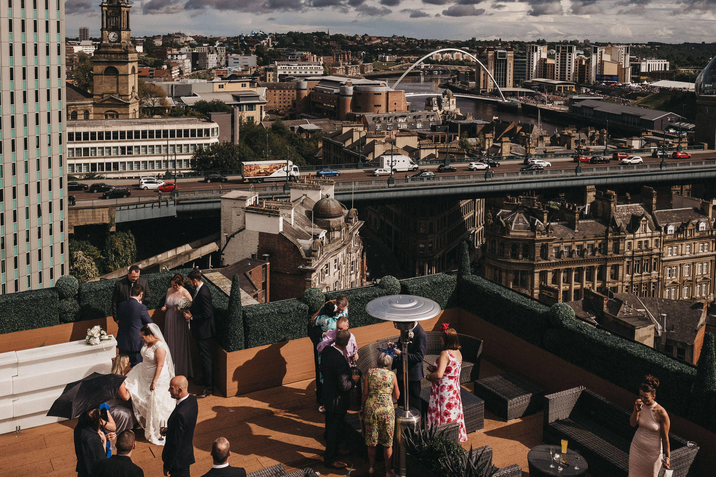 View of the Newcastle skyline from the roof of the Vermont Hotel