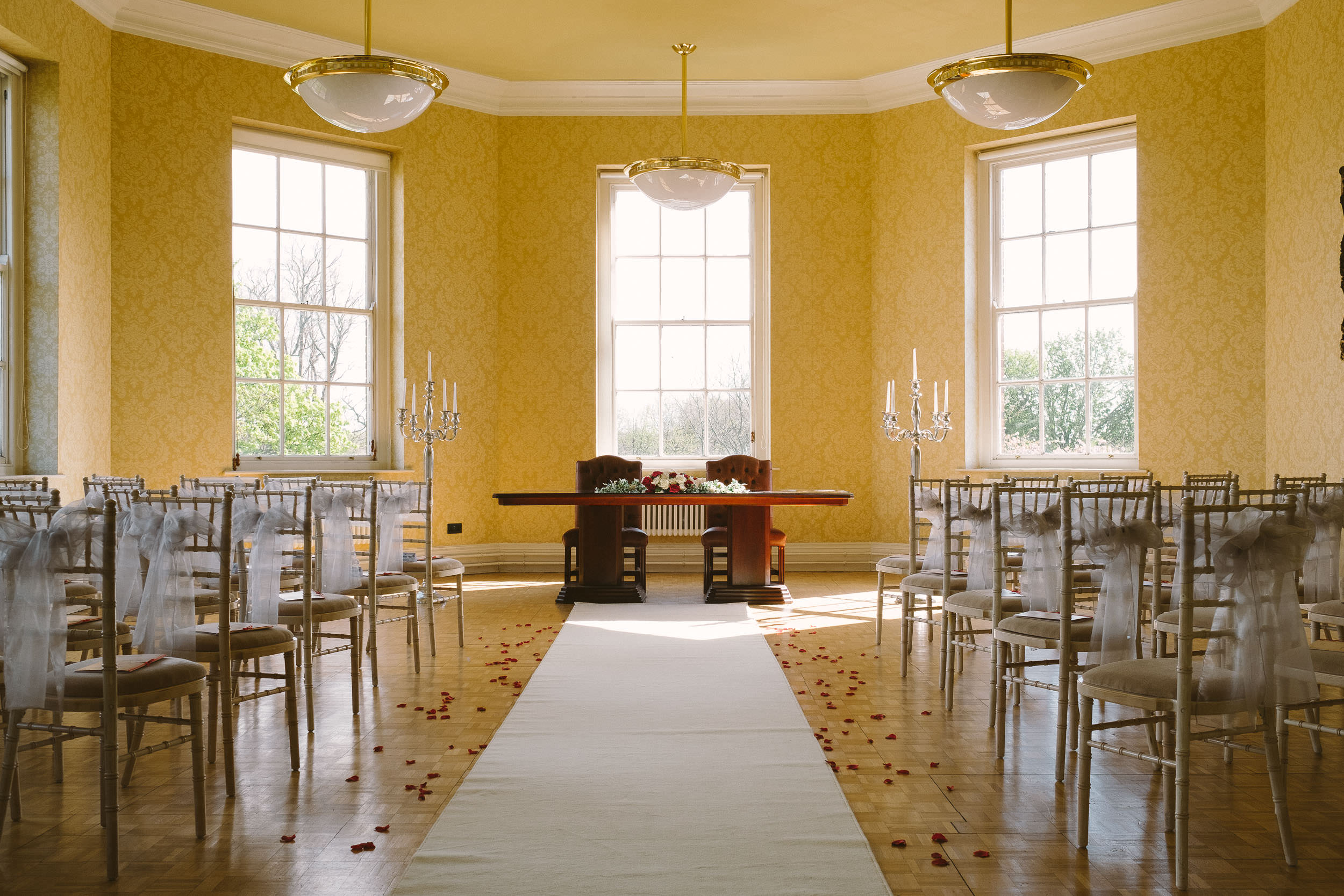 Wedding ceremony room at Wallsend Hall