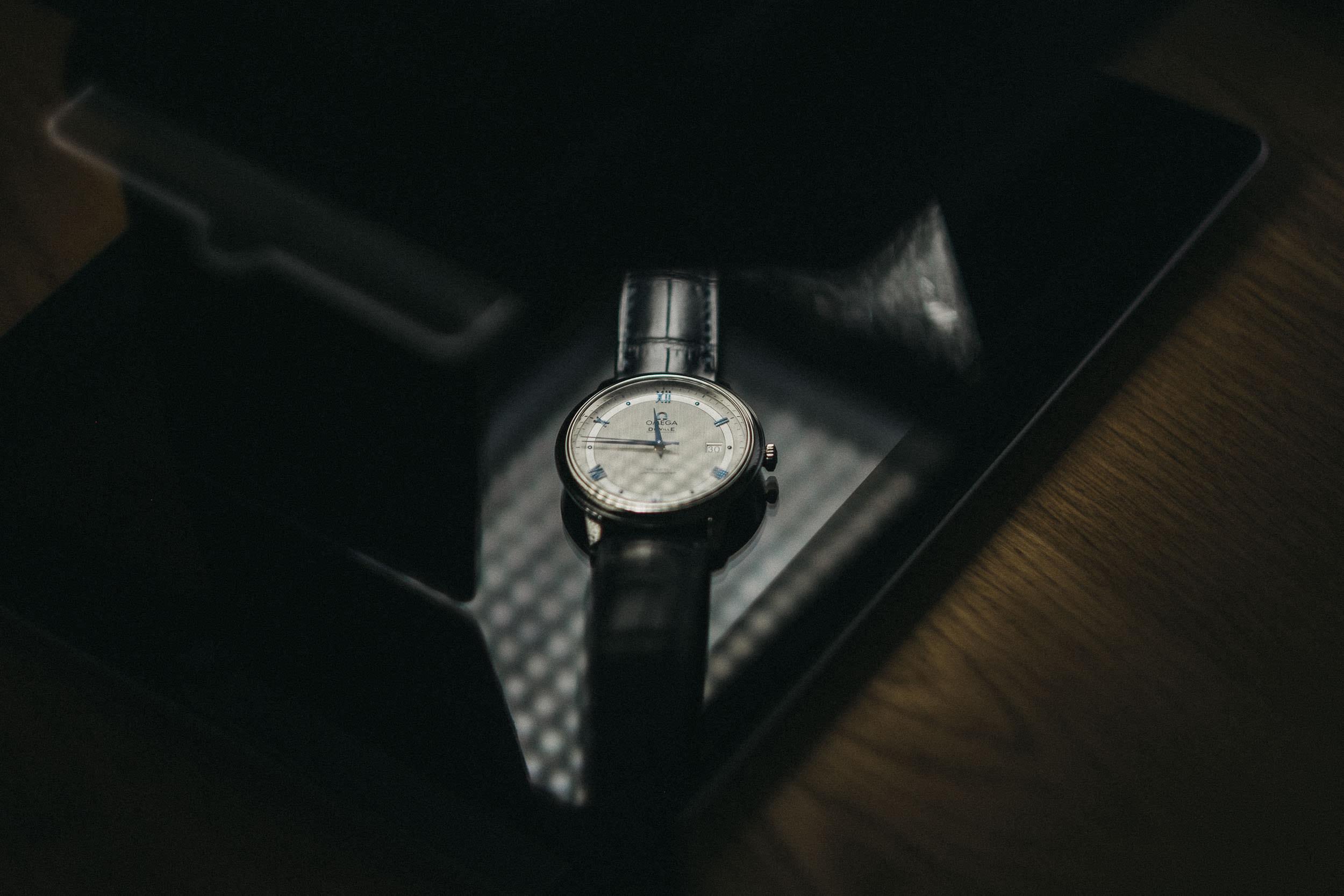 Detail of groom's watch