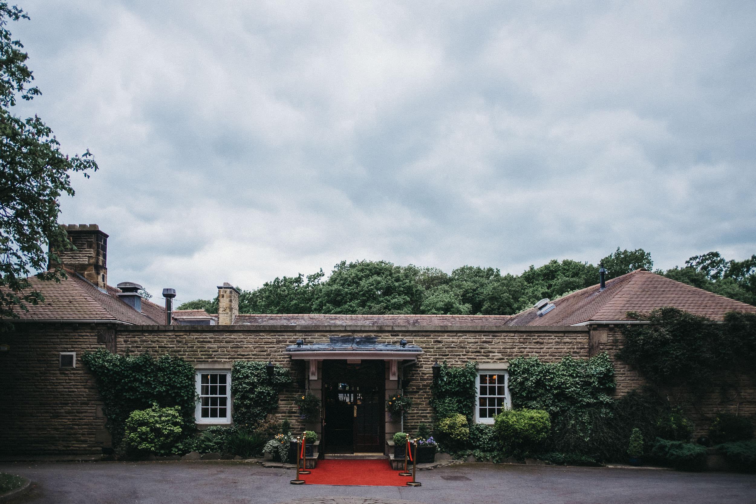 Exterior of reception venue Judges at Kirklevington