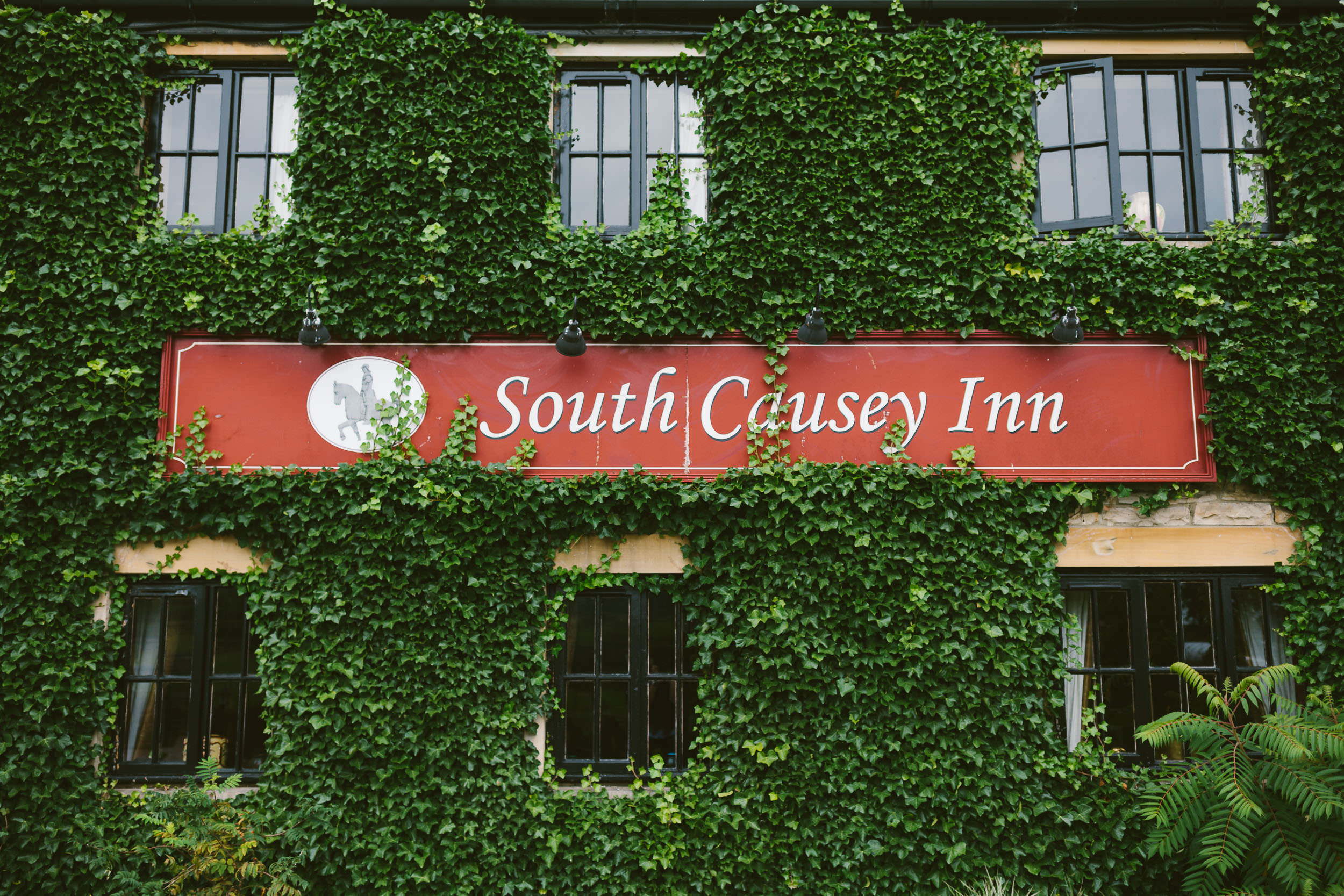 Sign on exterior of South Causey Inn County Durham