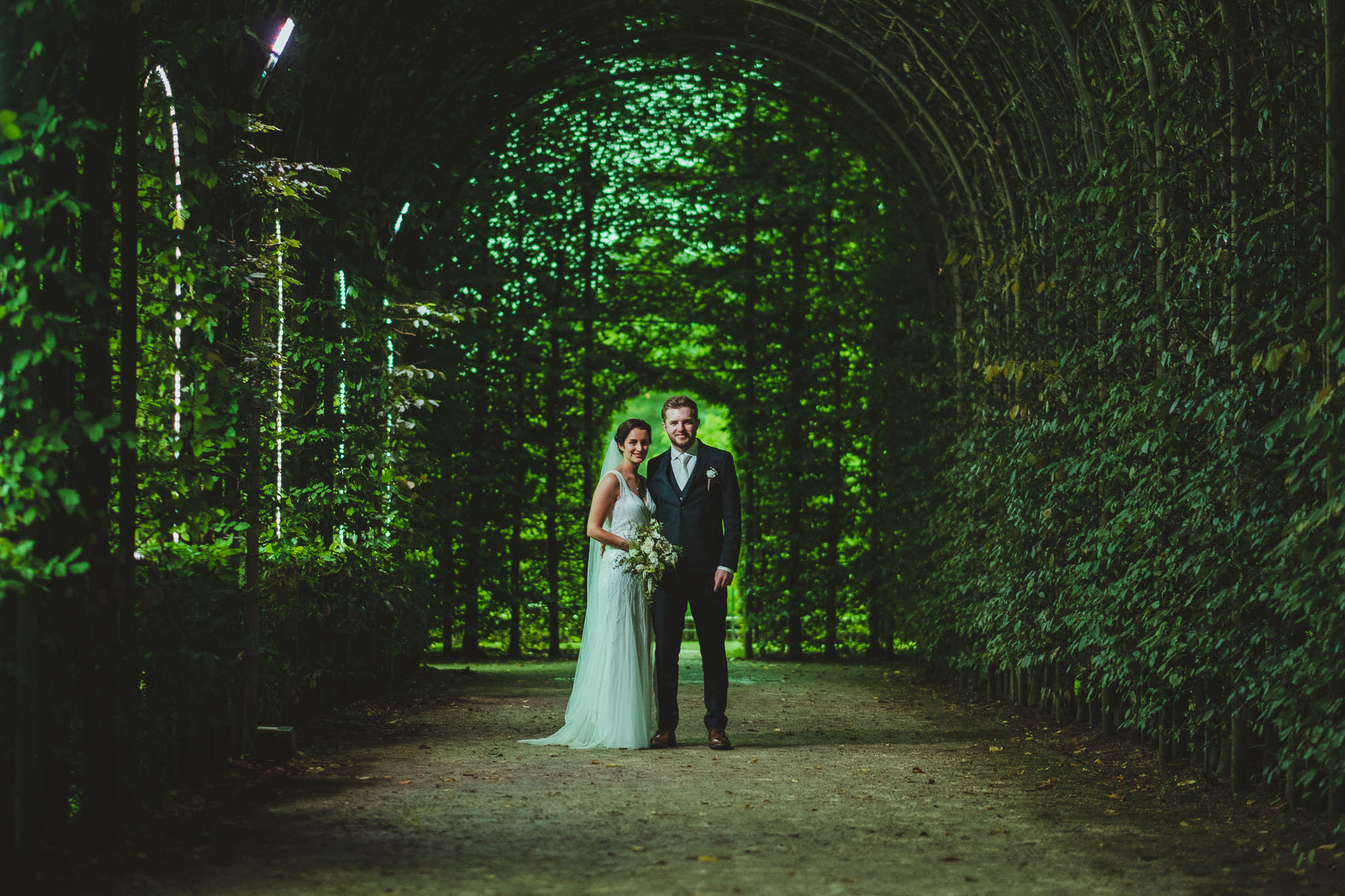 North East England boasts some amazing and unique alternative wedding venues. This is Noor and Callum at The Alnwick Garden in Northumberland.