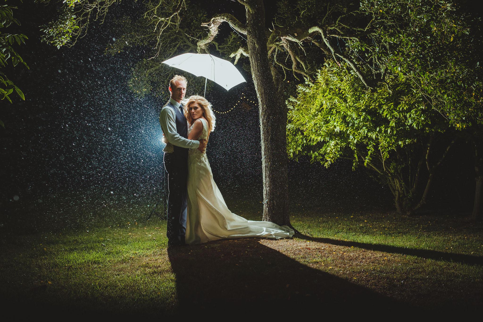 You can get good wedding photos after nightfall with a decent photographer.