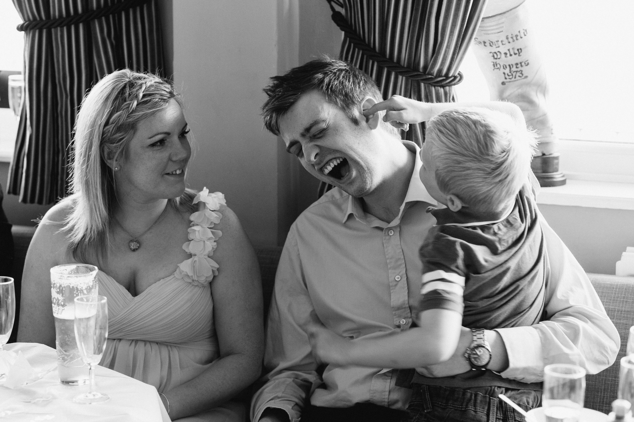 I love a wet willy at a wedding!