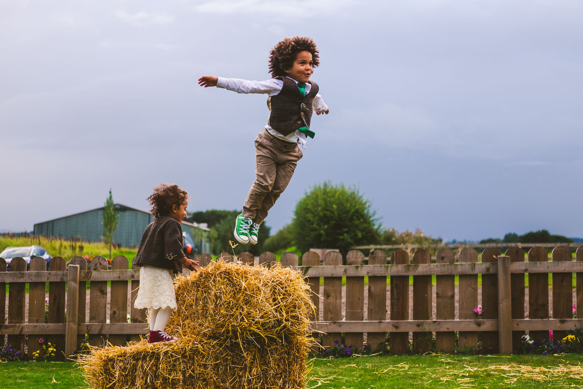 Northside Farm is an ideal wedding venue for children as they can run wild outside safely