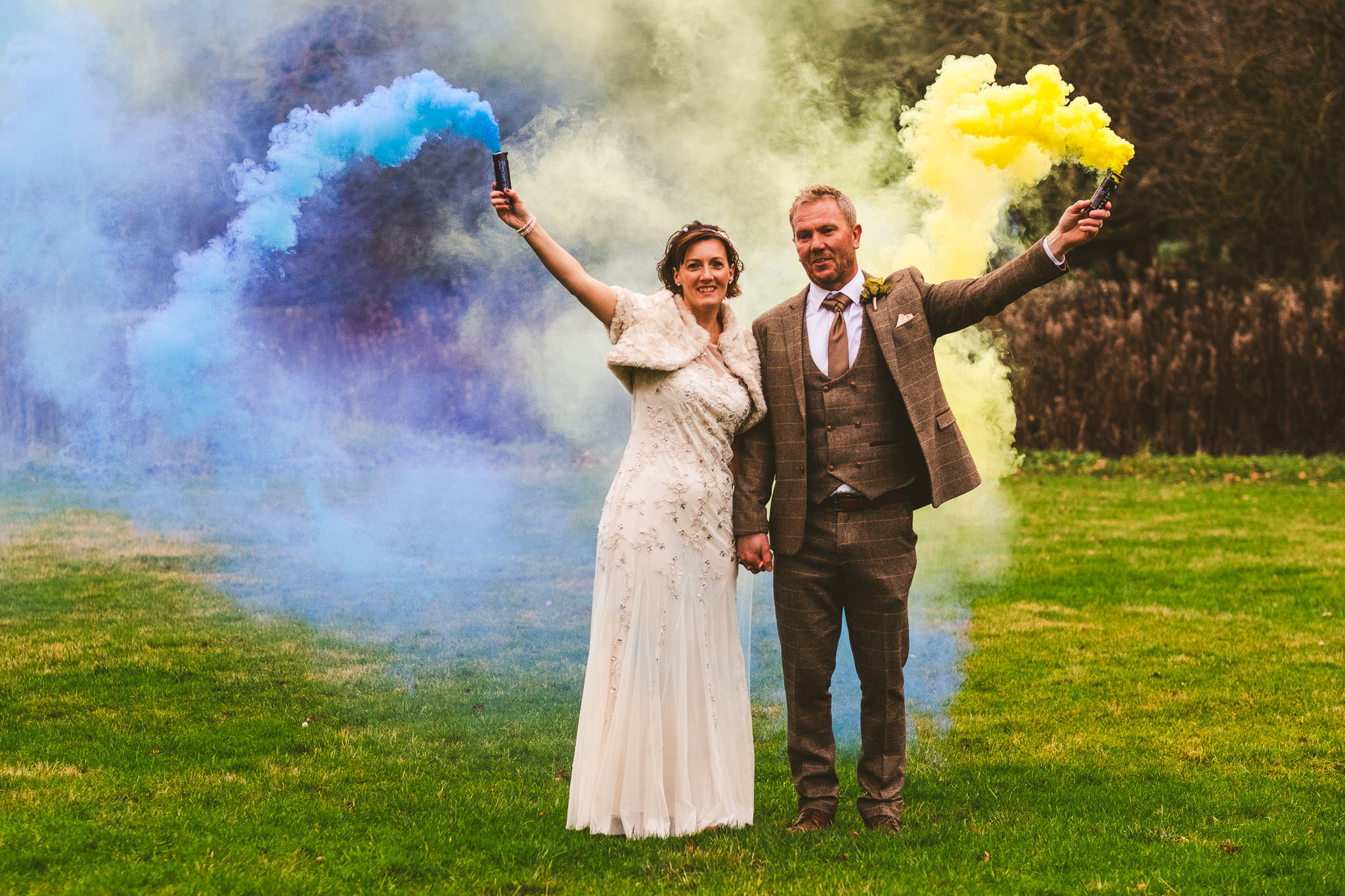 Angela and dave wanted to use smoke bombs during their bride and groom portrait session and I jumped at the chance!