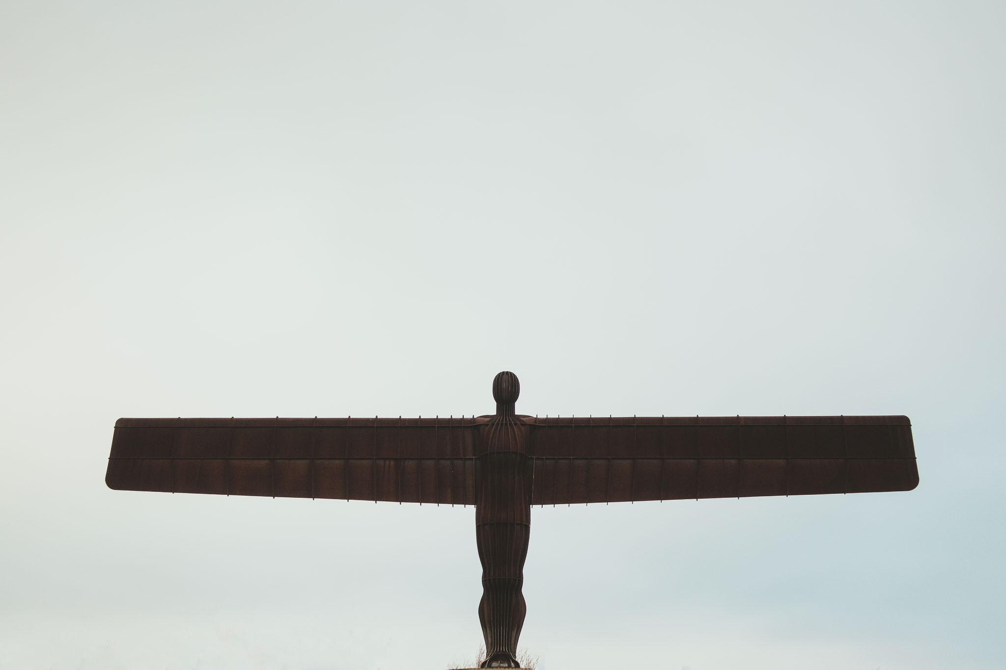 Front view of the Angel of the North in Newcastle