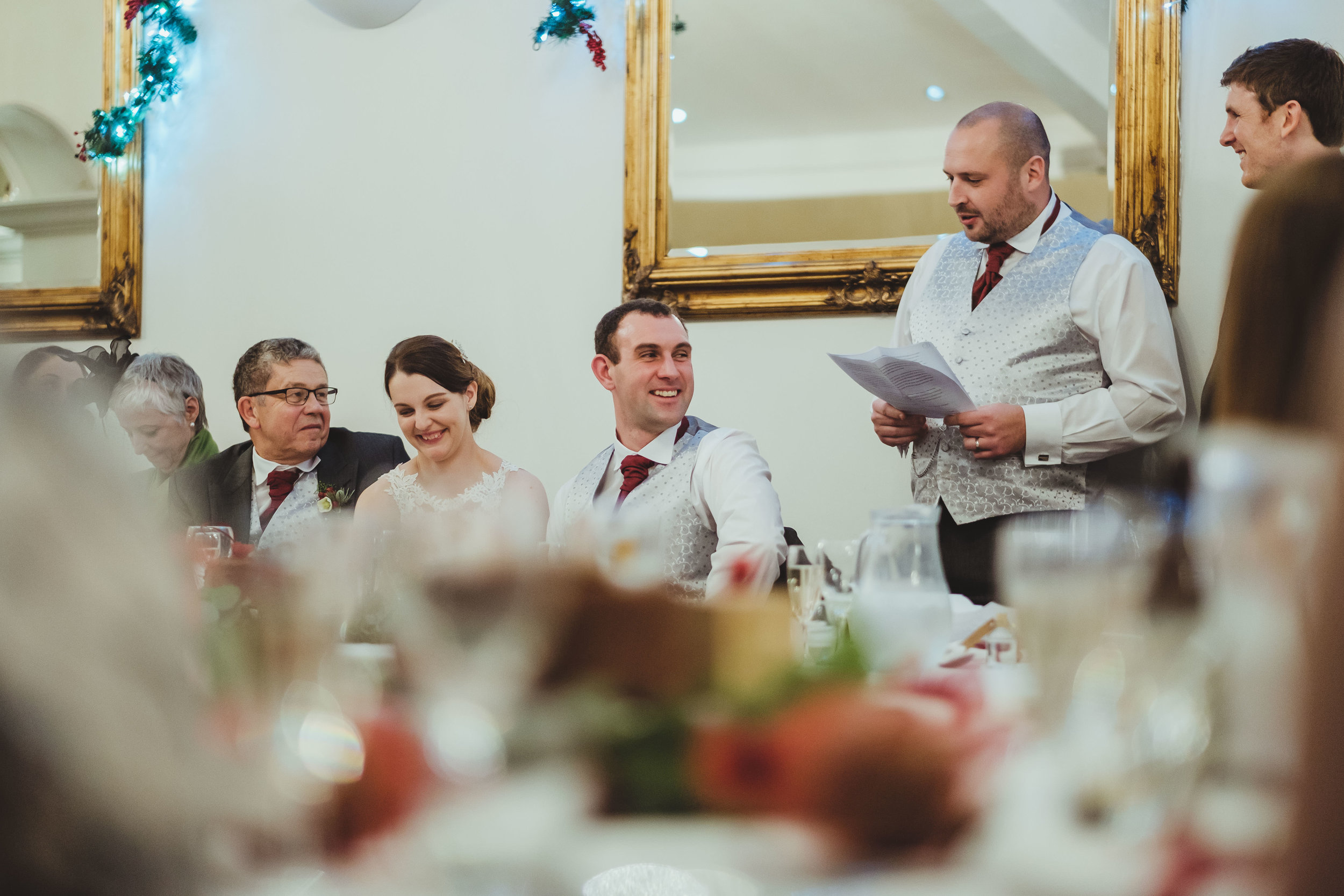 Laughter at best man's wedding speech