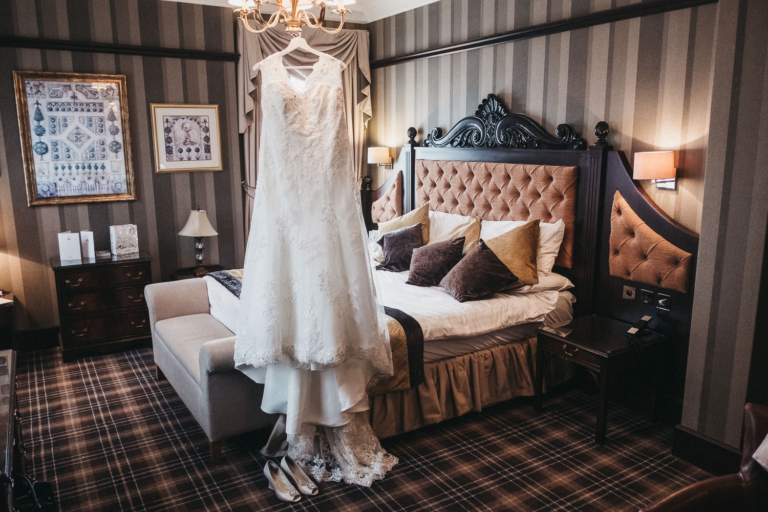 A wedding dress in the Vermont Hotel Newcastle