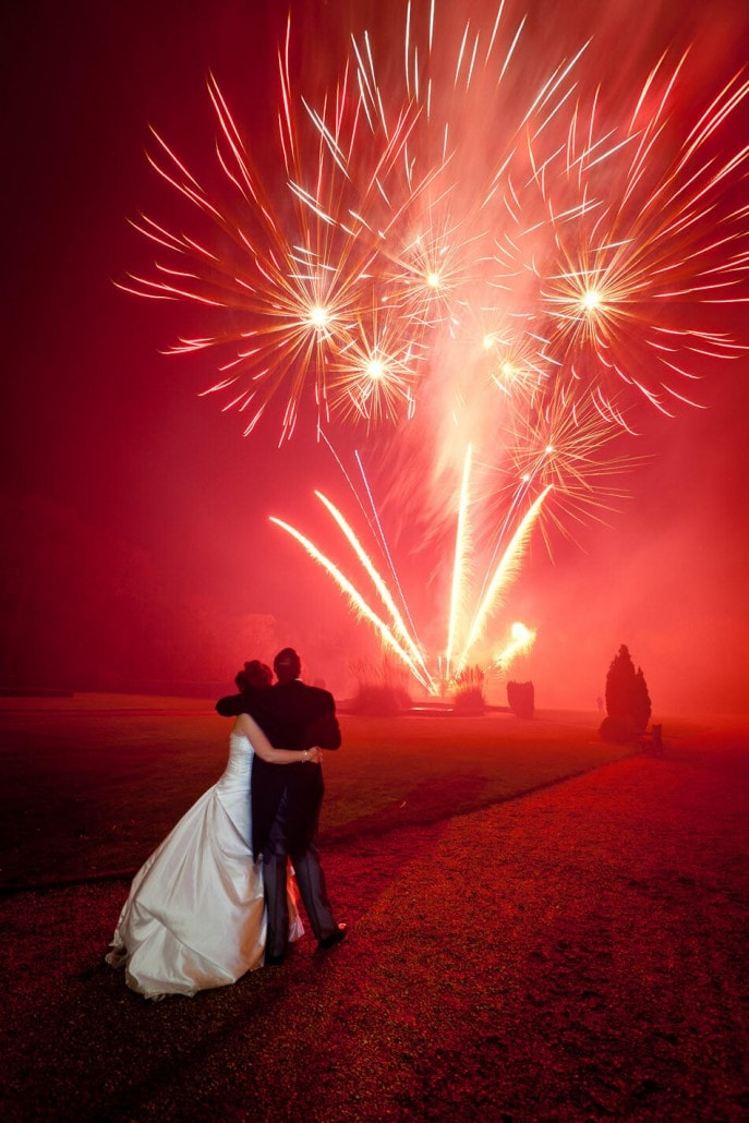 Fireworks can add some colour and drama to your Newcastle wedding (photo supplied by wedding fireworks.co.uk)