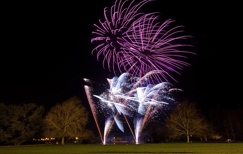Wedding fireworks light up the North East sky (photo supplied by wedding fireworks.co.uk)