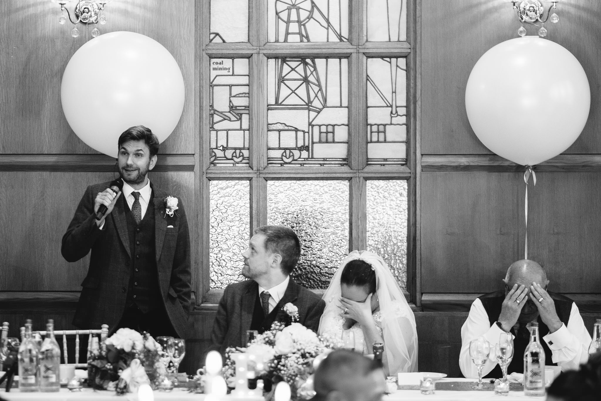 One of the funniest and best delivered wedding speeches I've ever heard. This was in The Vermont Hotel, Newcastle.