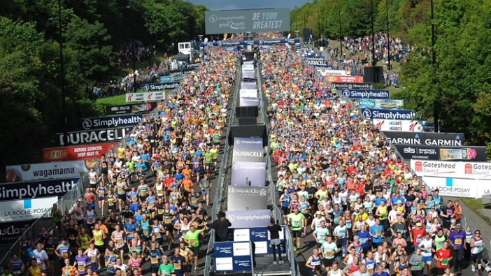 The start line of the great North Run
