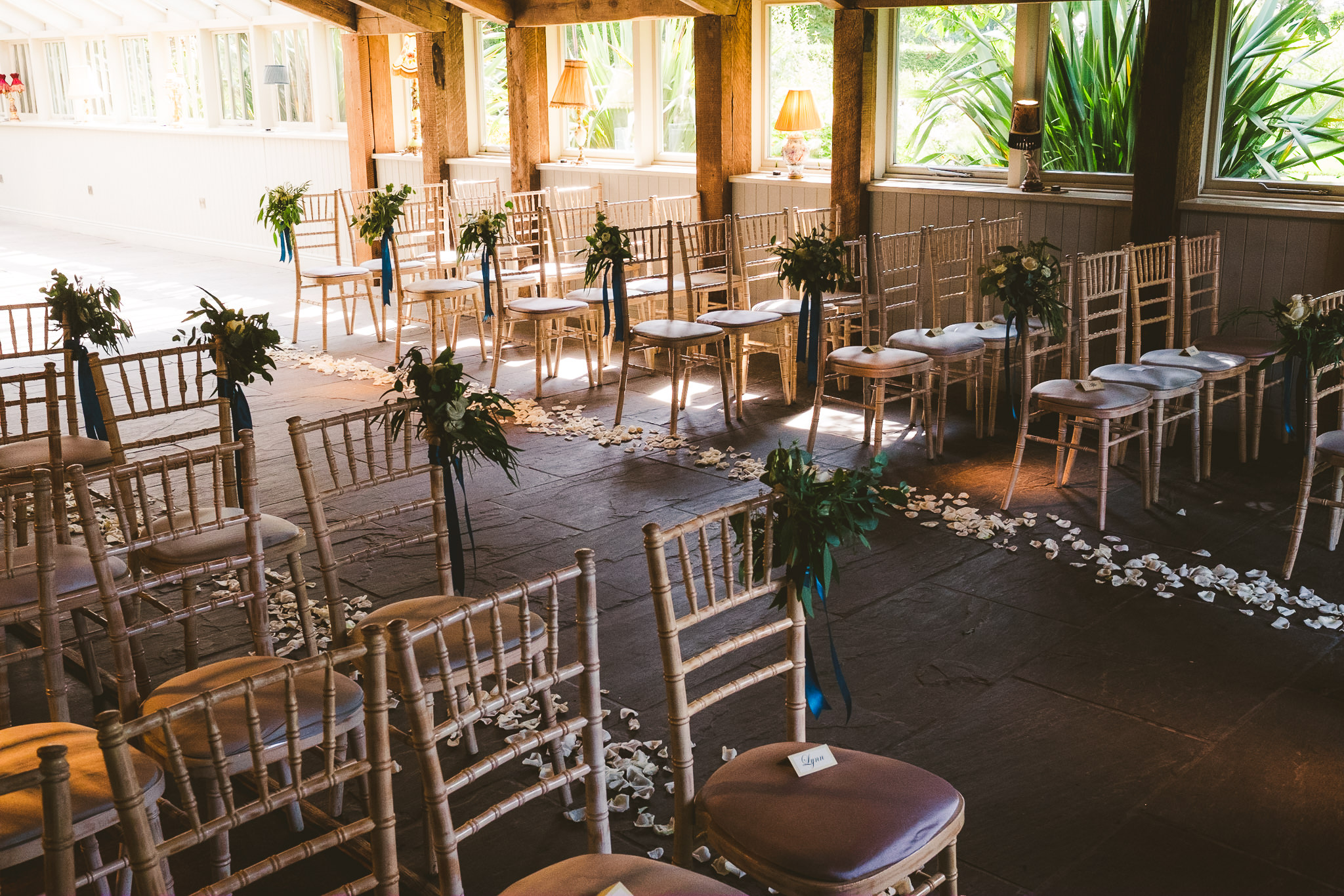 Newton Hall Garden Suite ready for the wedding ceremony