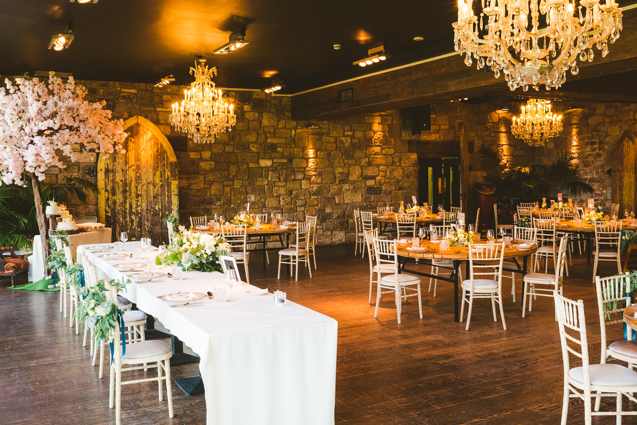 The Garden Suite at Newton Hall set out for a wedding