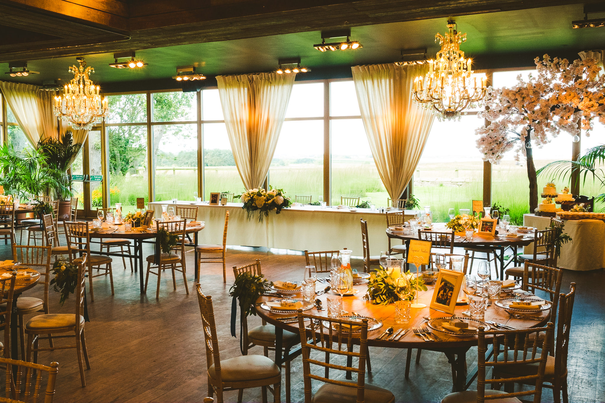 Newton Hall Garden Suite set out for a wedding