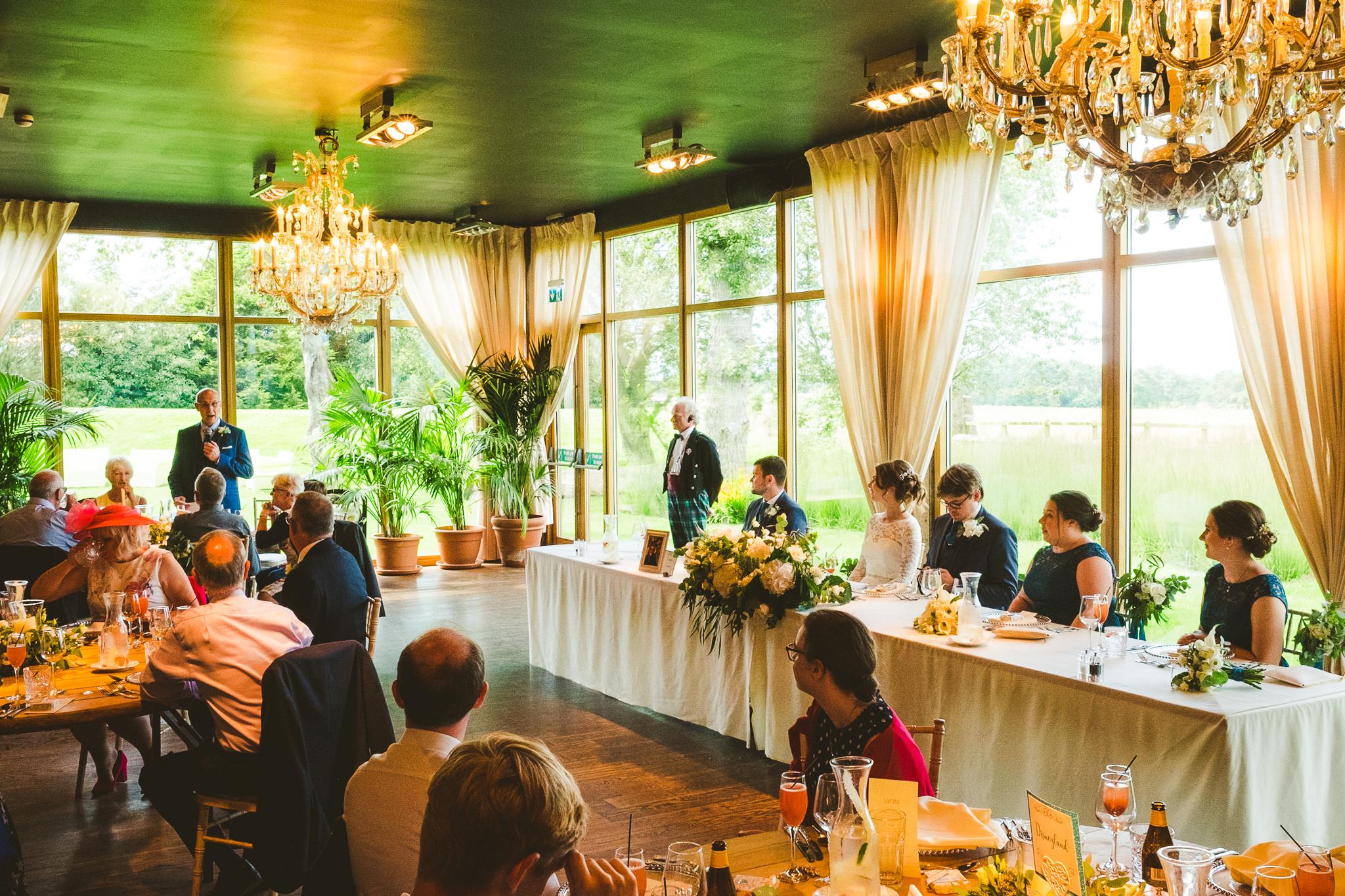 Wedding speech at Newton Hall