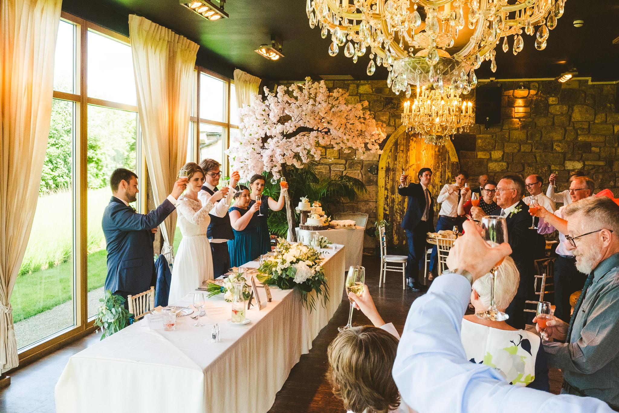 Toasting the wedding speeches