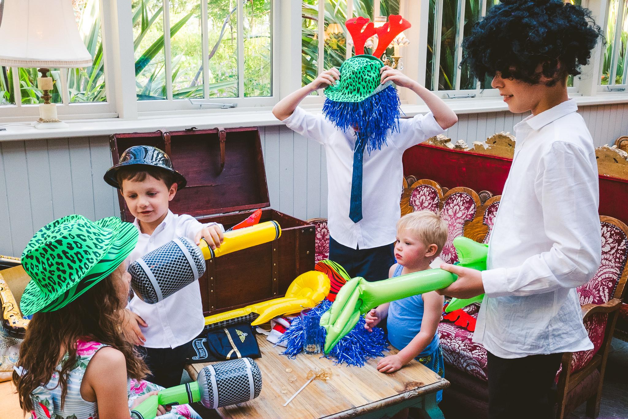 Kids play dress up at Newton Hall