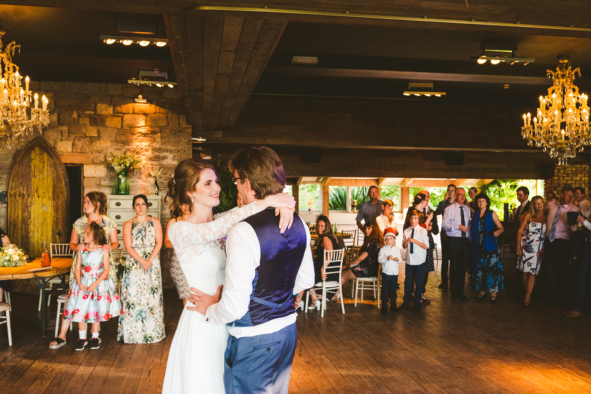 Bride and groom first dance at Newton Hall