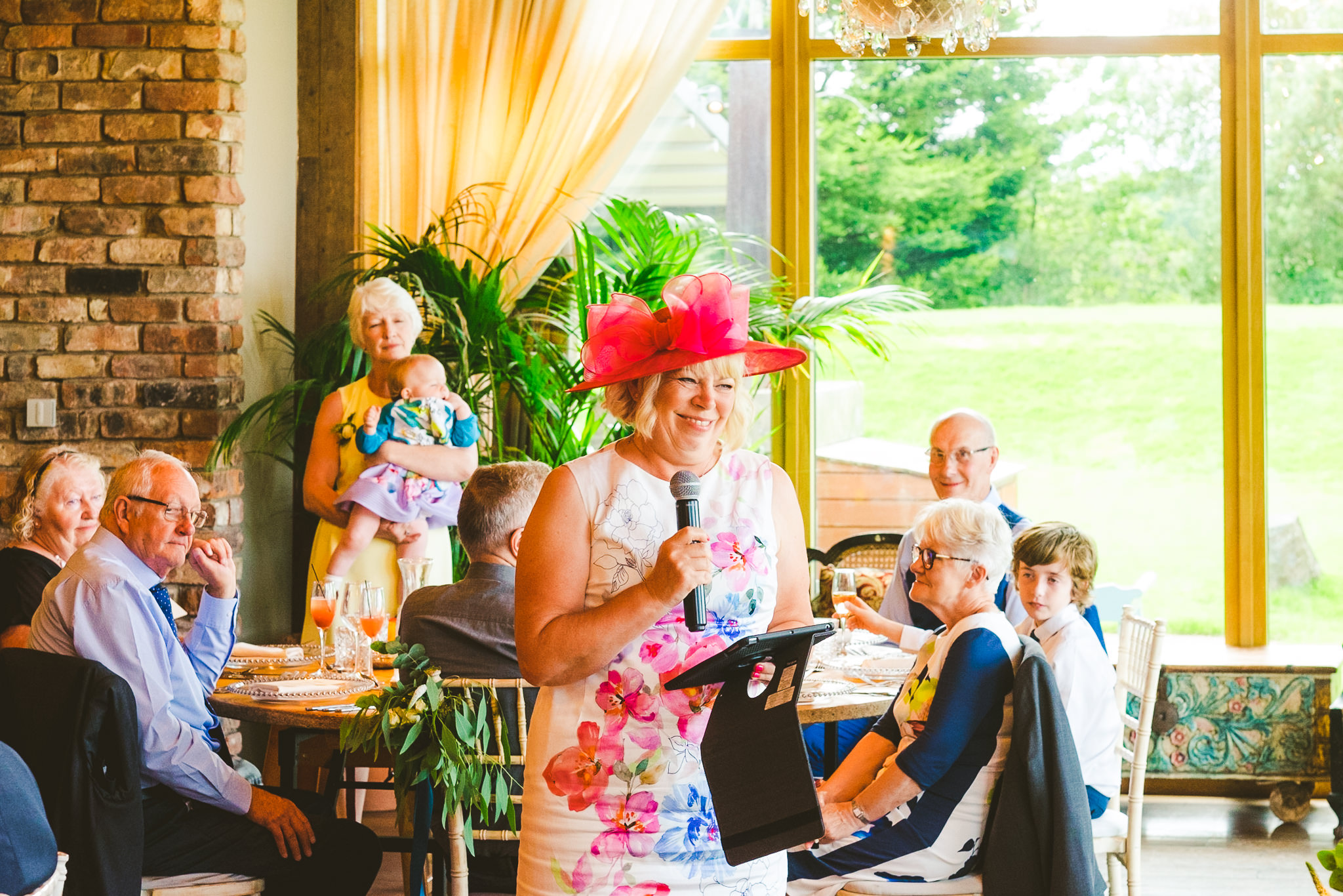 Wedding speech by mother of the groom at Newton Hall
