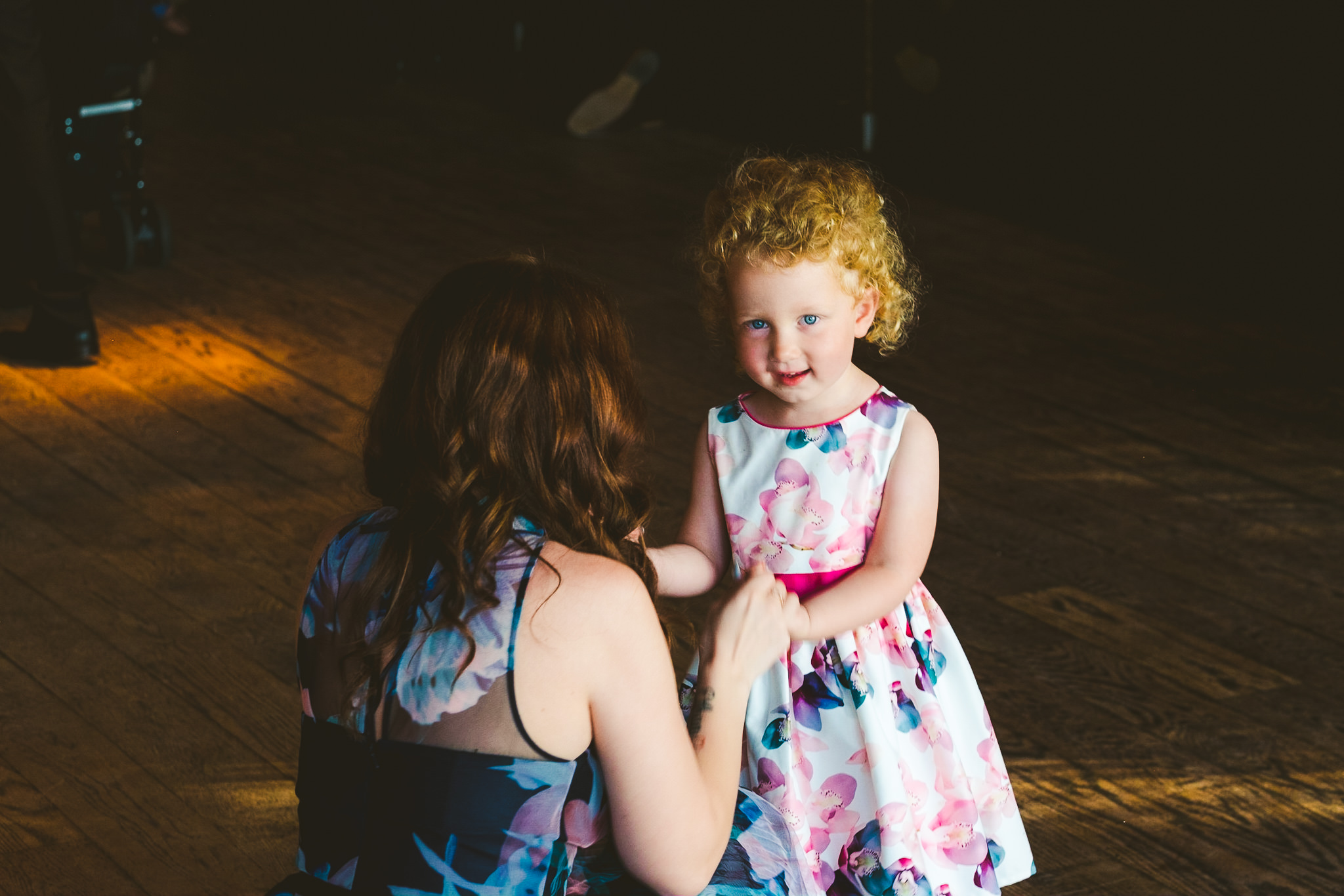 Flower girl dancing at Newton Hall