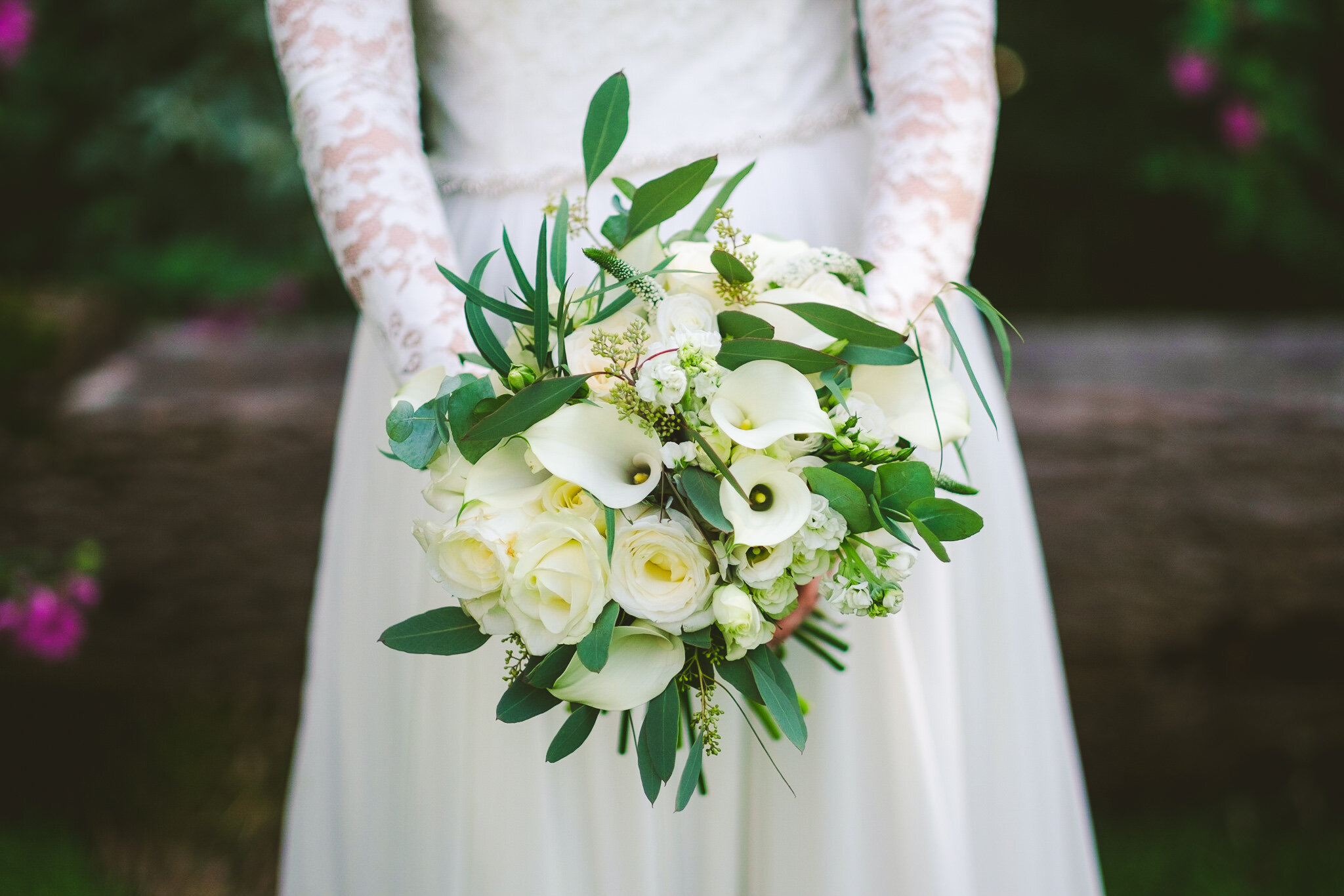 Alice's wedding bouquet by Sprig and Thistle
