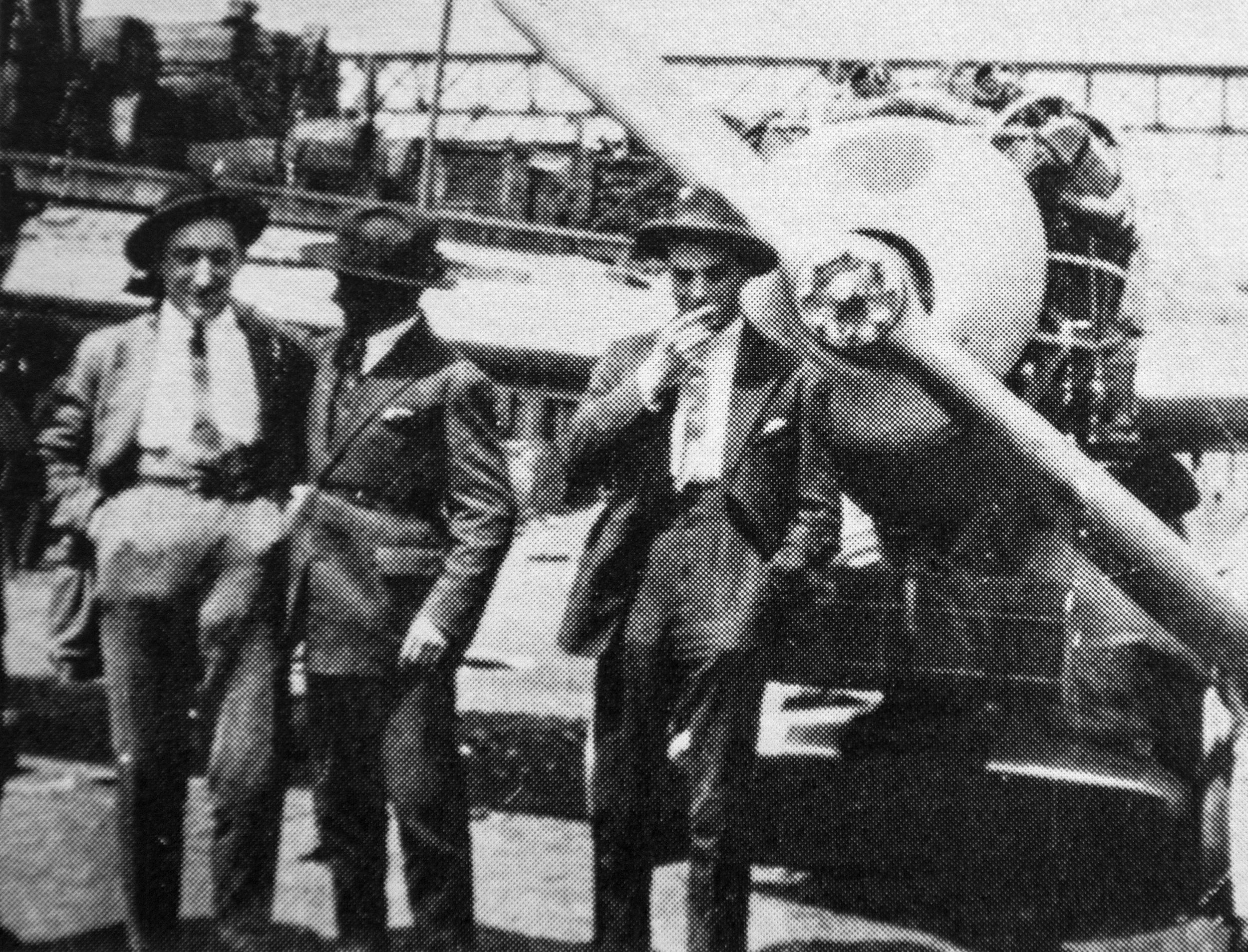 Kartvel (right), Levine and Chagnard