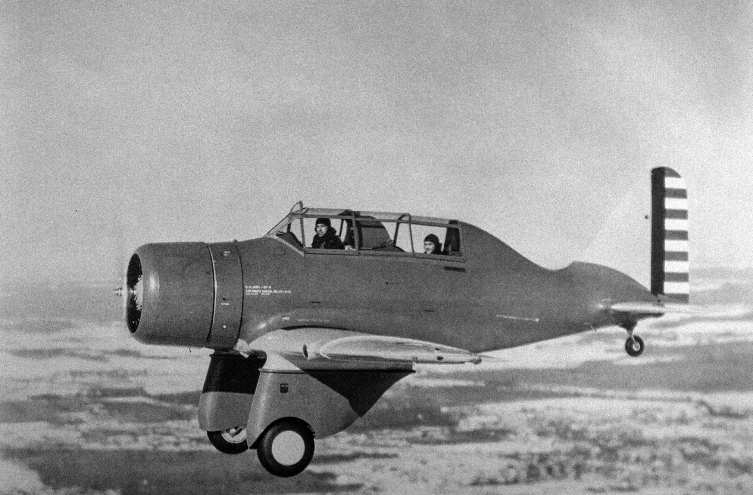 Kartveli and Seversky flying in an early P-35