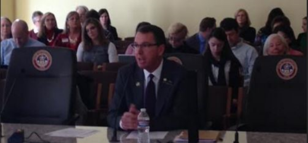 Rep. Lundeen before the House State, Veteran & Military Affairs Committee