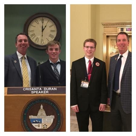 Jake Schmidt and Anker Eisenmann visit the capitol