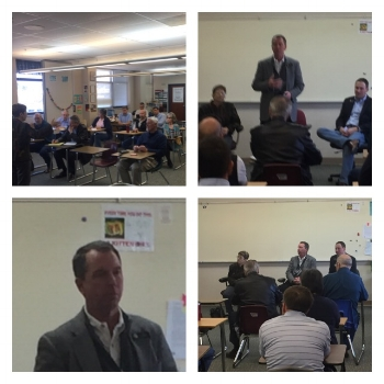 Our morning town hall meeting with Reps Carver and Nordberg and Sen. Lambert