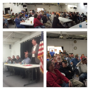 Our evening town hall with Sheriff Bill Elder, DA Dan May, Commissioner Gonzales and Public Works Director Jim Reed