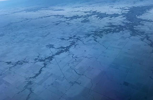The schism as pictured from above Illinois