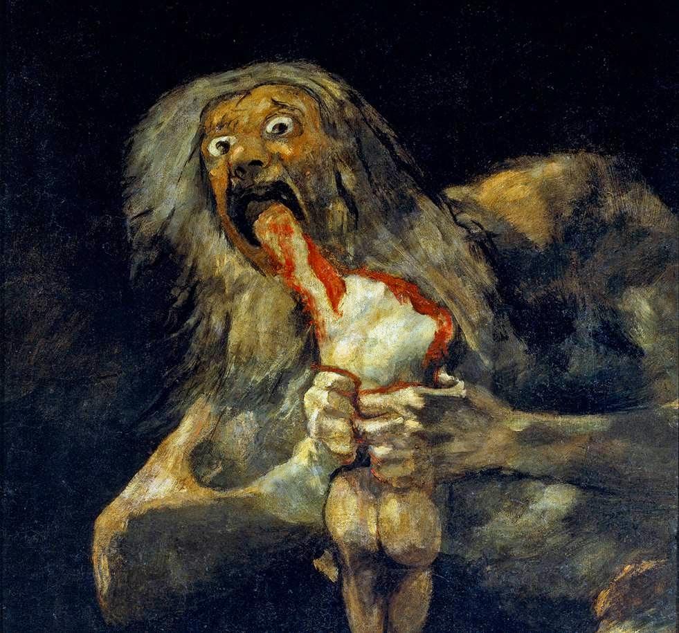 """Goya, """"Saturno devorando a un hijo"""""""