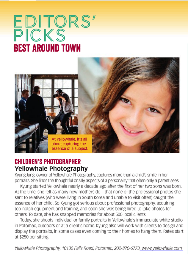 Best Children's Photographer - Editor's Pick