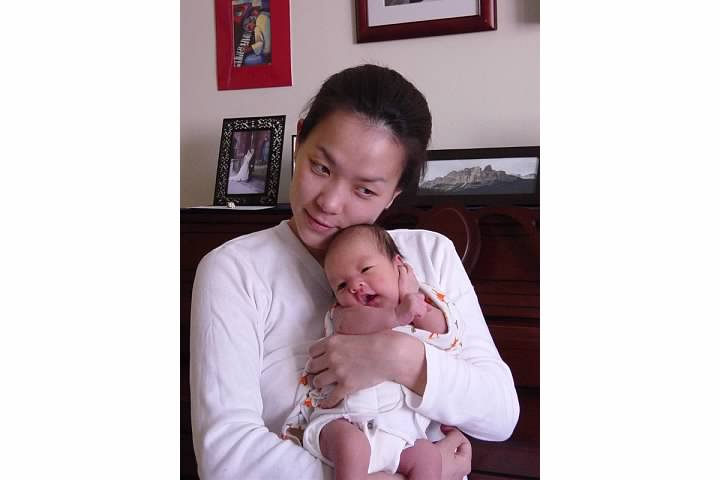 With Ethan, Feb 2003