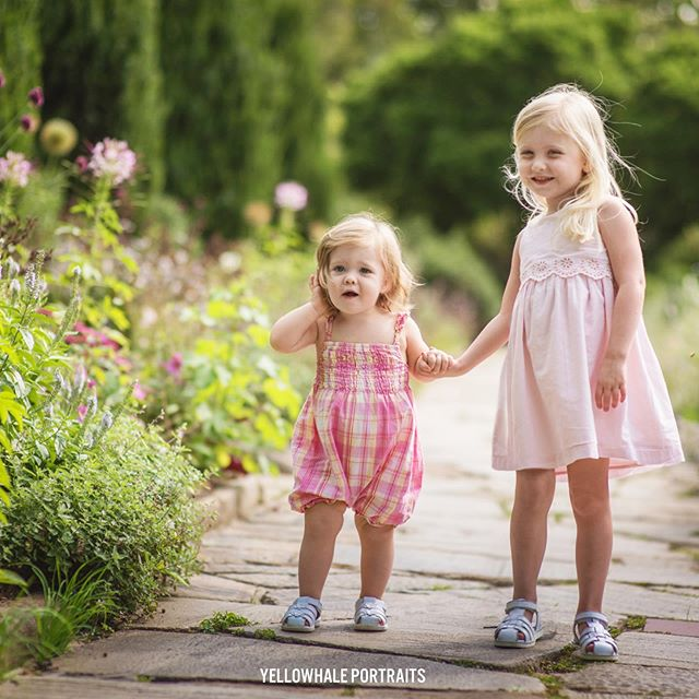 "S I S T E R S . . . ""All you need is love… and a sister."" #sisters #childhood #bff #garden"