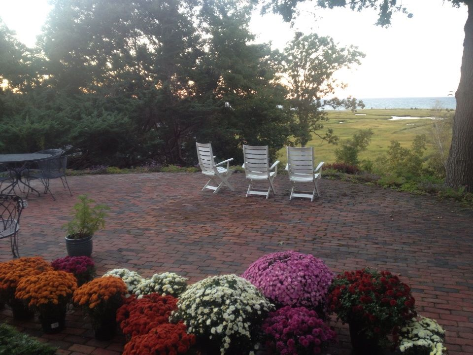 Brick patio and outdoor entertaining area. Scituate, MA