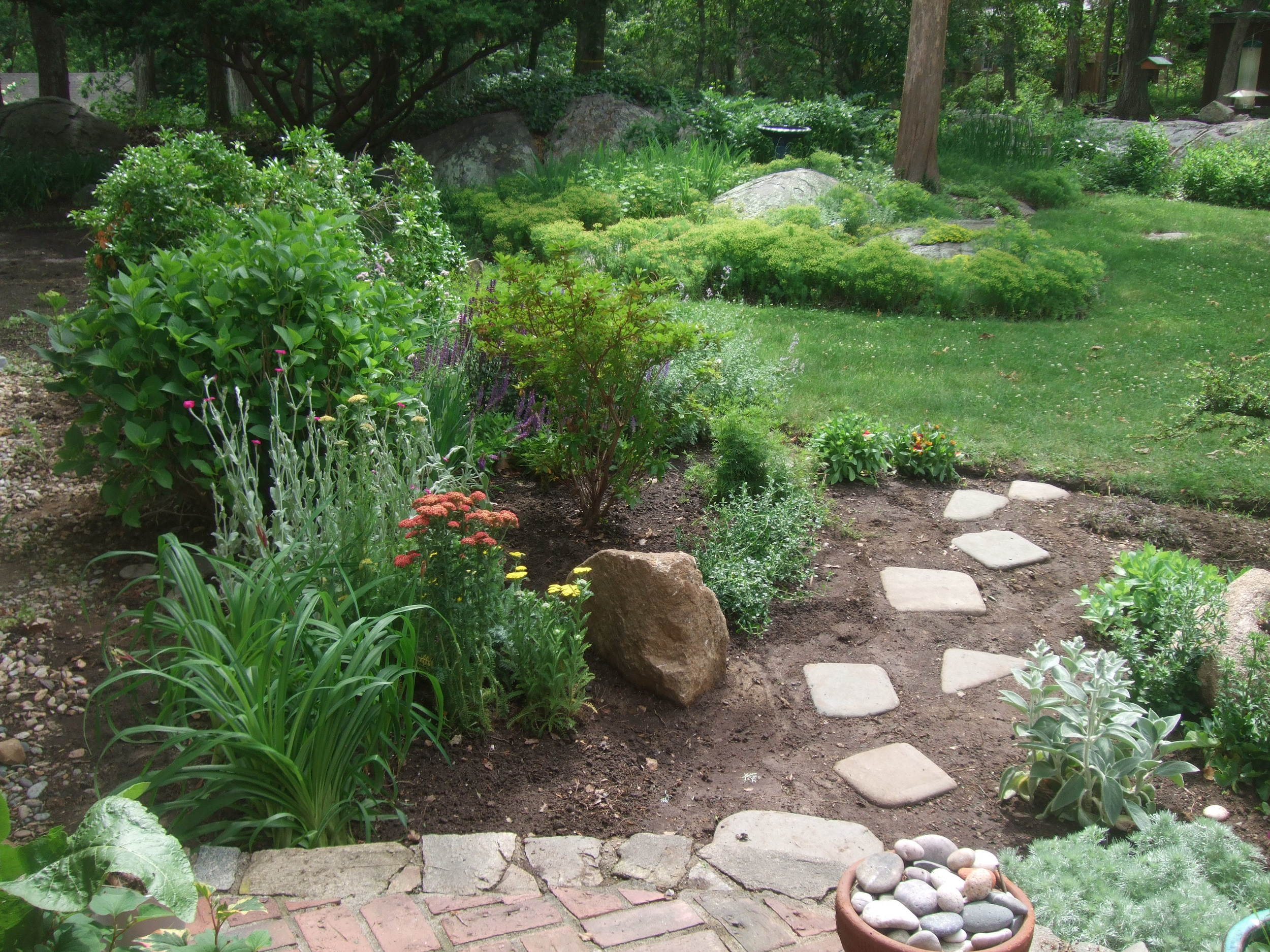 Perennial bed redesign. Scituate, MA