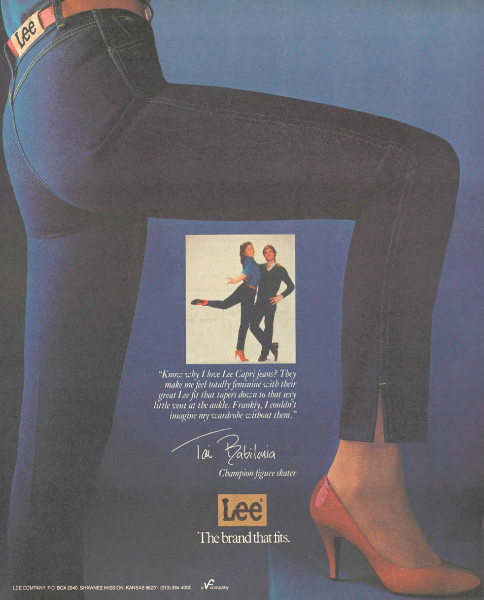 I only included this because it is the flattest arse I have ever seen, selling jeans no less (1983).