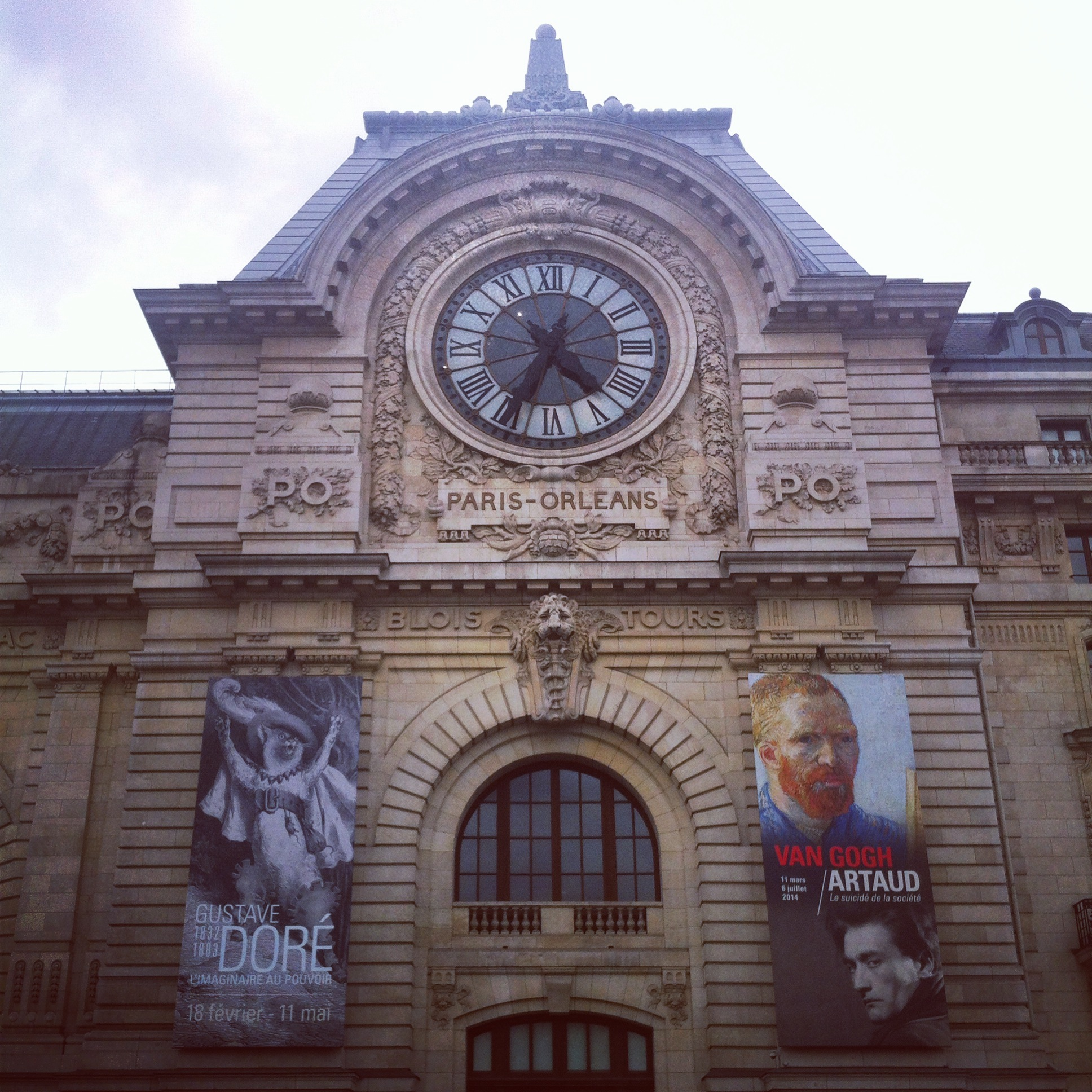 Musee d'Orsay, formerly a train station.