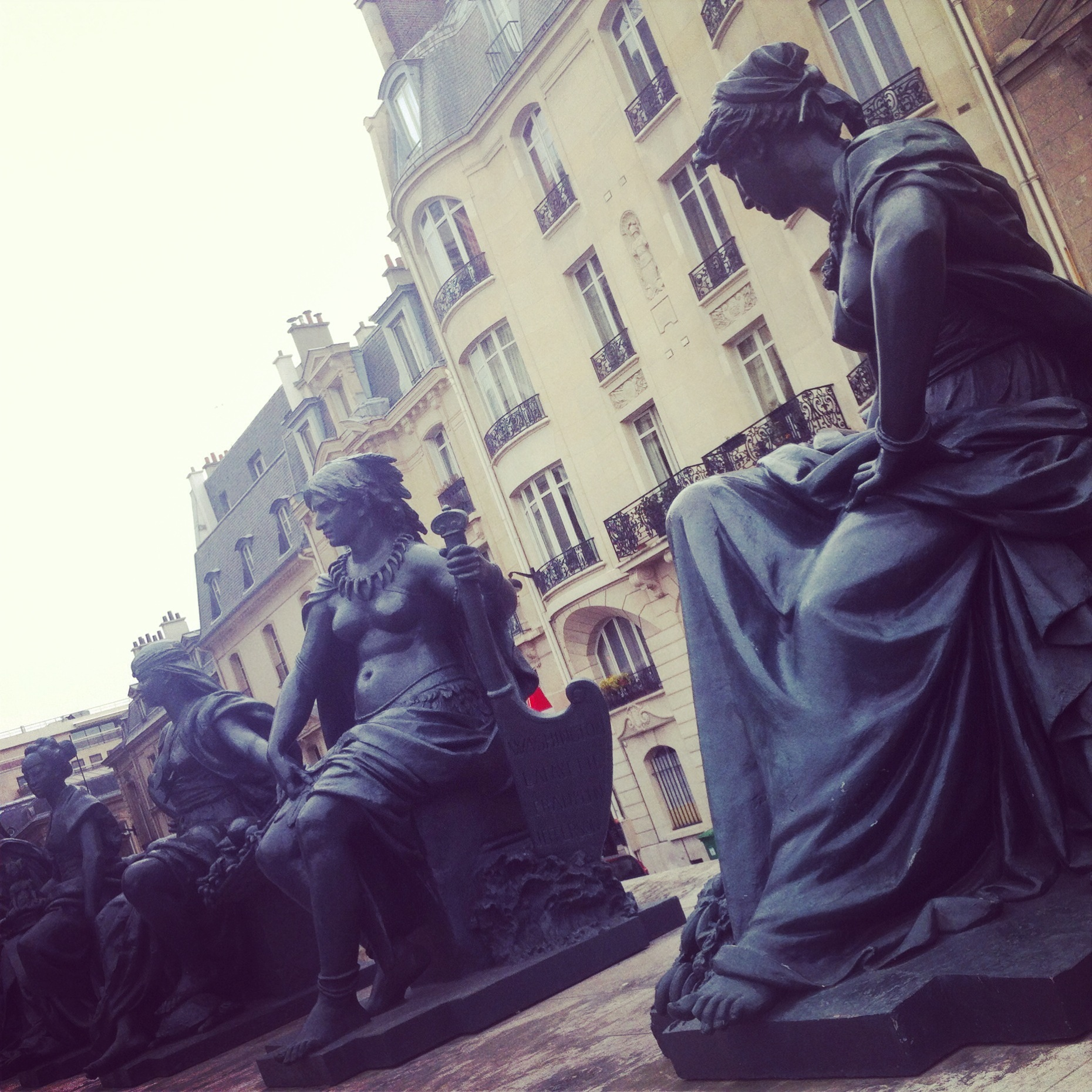 Statuary outside the Musee D'Orsay in Paris