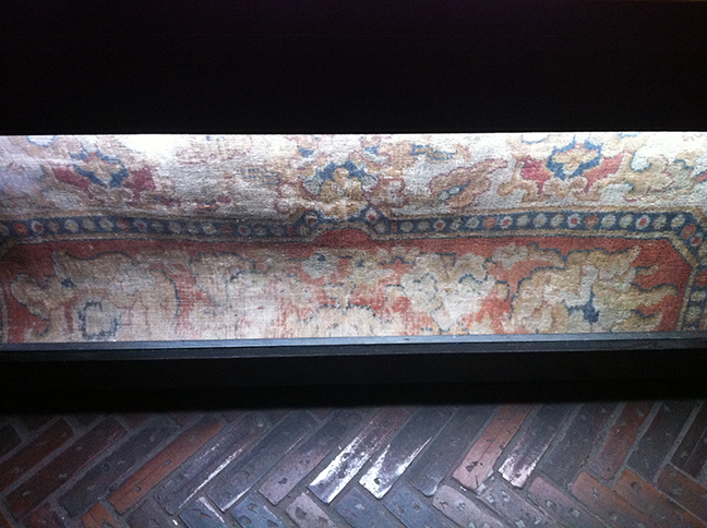 Original rug from inside Marie Antoinette's prison cell at the Conciergerie