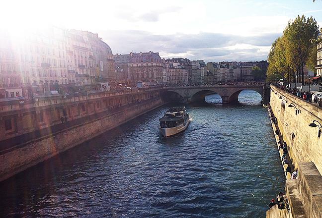 The Seine River near the Latin Quarter