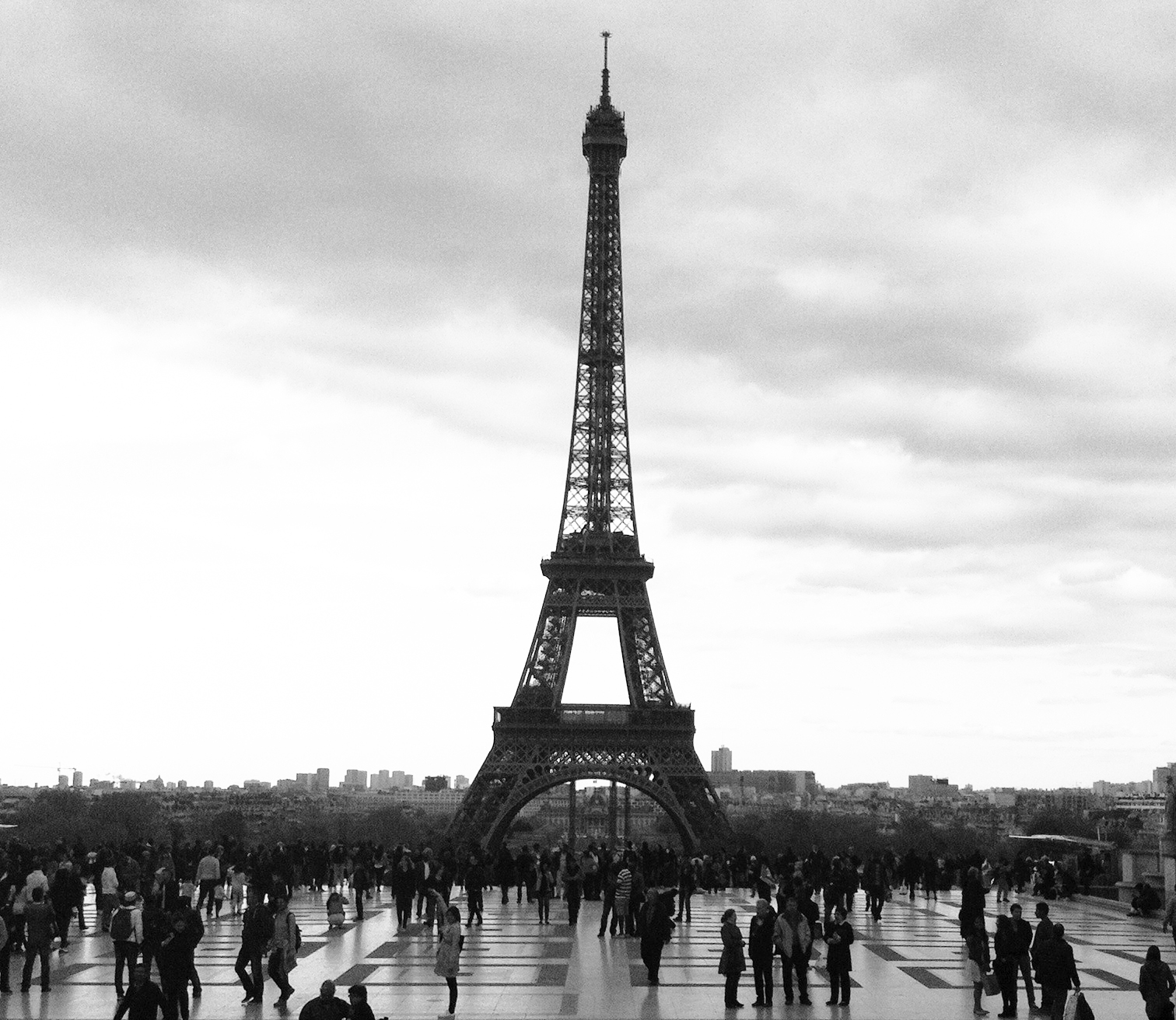 View of the Eiffel Tower from the Trocadéro