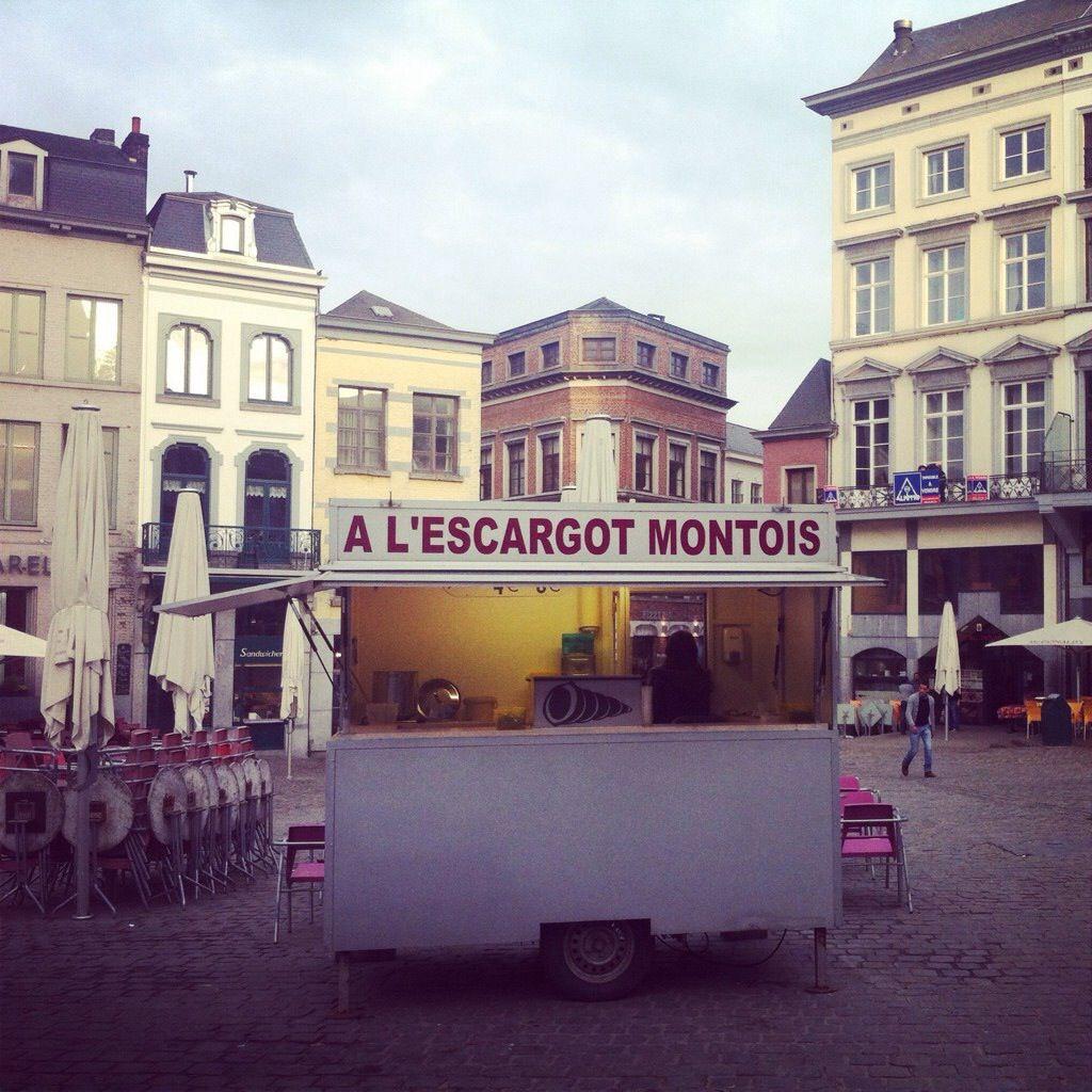 Escargot stand in Mons, Belgium