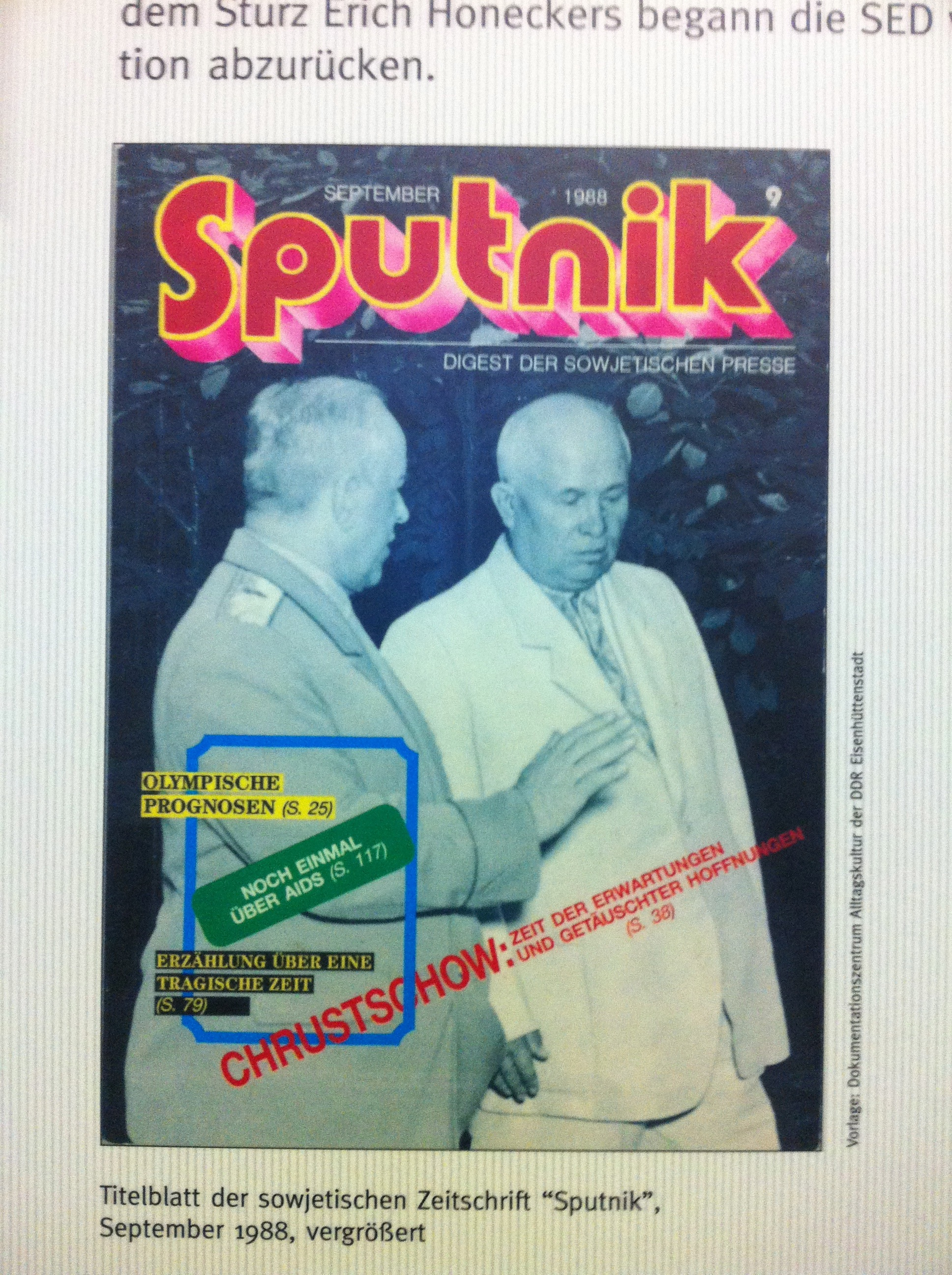 Sputnik Magazine from September 1988.