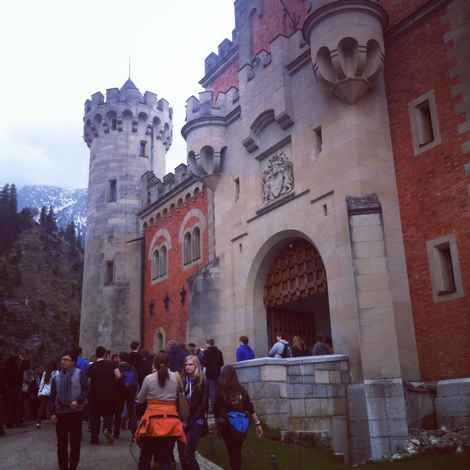Front entrance to Neuschewanstein Castle
