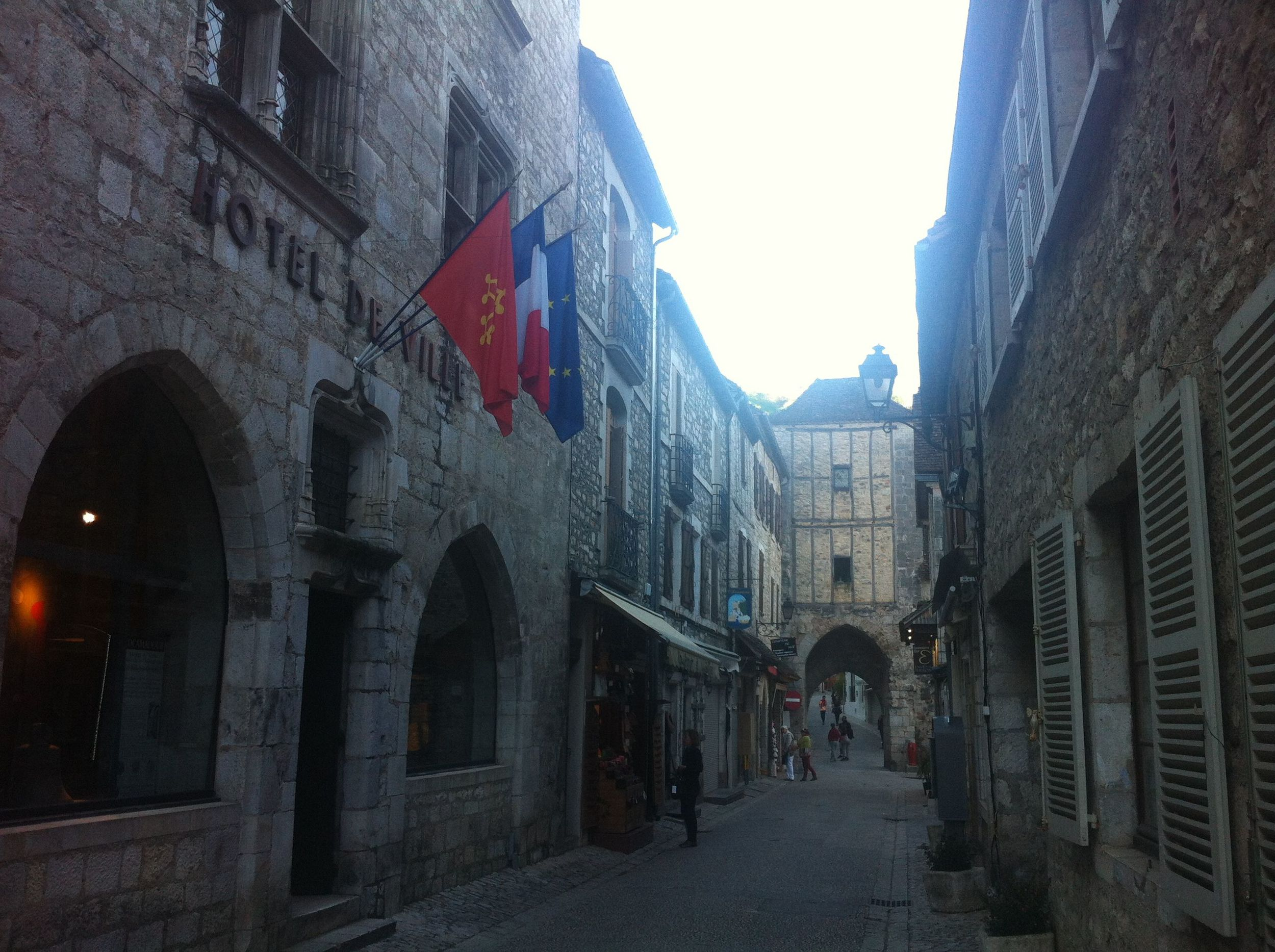 Medieval streets of Rocamadour, France.